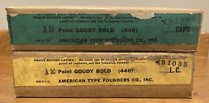 Nos Atf 12pt Goudy Bold Caps lower Case Letterpress Type