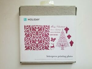 Lifestyle Crafts Letterpress Holiday Printing Plates l pp 0014 hd Brand New