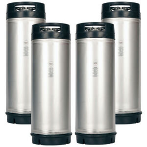 4 Pack New 5 Gallon Ball Lock Kegs Amcyl Homebrew Beer Soda Nsf Approved