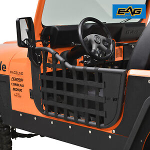 Eag Matrix Replacement Tubular Door W Mirror Fit For 76 95 Jeep Wrangler Cj7 Yj