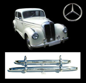 Brand New Mercedes W187 220 Stainless Steel Bumpers