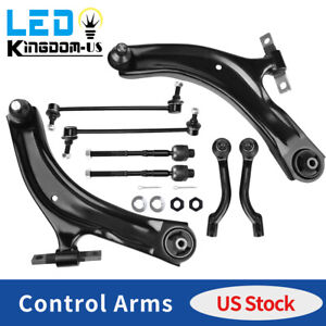 8x Front Lower Control Arm Ball Tie Rods Sway Bar Kit For 2008 2013 Nissan Rogue