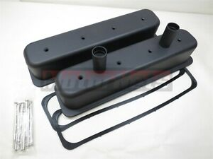 Sbc Center Bolt Black Aluminum Circle Track Tubes Valve Covers Vortec 305 350