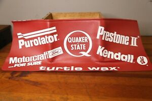 Nos Auto Mechanic Hot Rod Stp Quaker State Prestone Fender Mat Cover Vintage