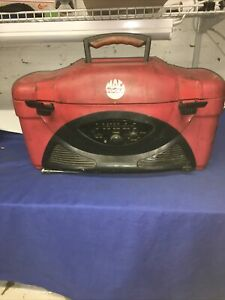 Vintage Mac Tools Tool Box Radio Tested Missing Battery Cover Jl