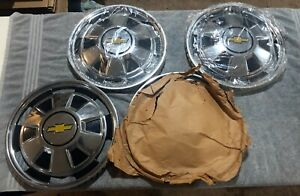 Set Of Four 1976 80 Chevrolet Chevy Luv Pickup Truck Chrome 14 Hubcap Nos