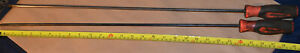 Pair snap on 24 Extra Long Shank Flathead And Phillips Screwdrivers Sgdxxl20b