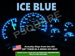 Gauge Cluster Led Dashboard Bulbs Ice Blue For Chevy Gmc 99 02 Silverado Truck