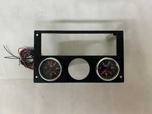 1993 Mustang Radio Bezel W Auto Meter Ford Racing Oil Fuel Pressure Gauges