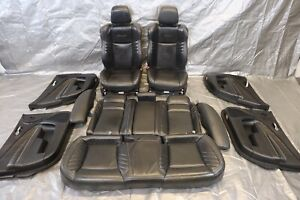 15 20 Dodge Charger Hellcat Oem Black Leather Interior Seats Panel Kit 1295