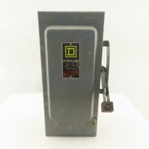Square D 30a 600vac 3ph 30hp Non Fusible Safety Disconnect Switch