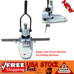 B3 Paper Single Hole Punch Machine W mobile Positioning Ruler File Drilling Kits