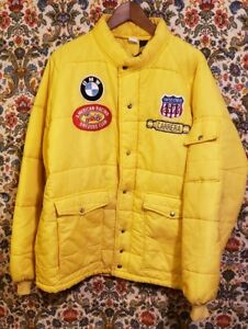 Vtg 60s 70s Swingster Mens Xxl Bmw Porsche Carrera Puffer Jacket Rare