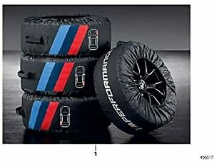 Bmw M Performance Tire Bags Set Of Four Bags 17 22 Wheels 36132461758