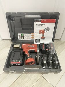 Ridgid Propress Rp210 Complete Set 1 2 To 1 1 4 Charger With Batteries Crimper