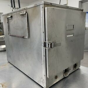 Heated Food Warmer 23x13x13 Hot Box Holding Cabinet Nsf Transport 120v