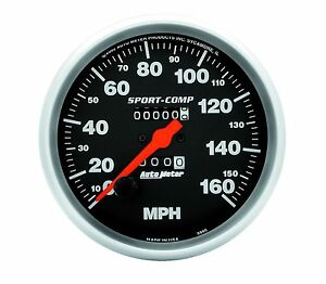 Auto Meter Sport comp 5 In dash Mechanical Speedo Speedometer 160 Mph Gauge