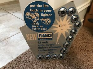 1960 s Ford Nos Cigar Lighter Element Display Board Fully Loaded Fomoco