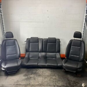 05 09 Mustang Coupe Black Leather Power manual Buckets Backseat Seat Set Oem