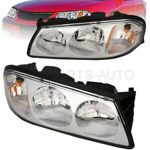 Headlights Assembly Fits 2000 2005 Chevy Impala Front Clear Lens Replacement