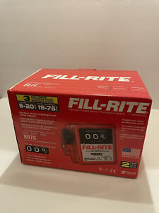 New Fill rite 807c 5 20 Gpm 3 4 inch Npt Thread Nonresettable Totalizer Meter