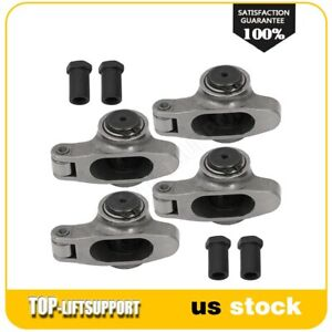 Stainless Steel Roller Rocker Arm For Chevy Sbc 350 1 50 Ratio 3 8