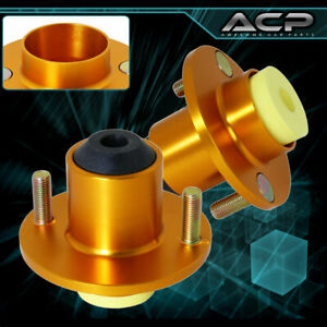 For 88 00 Civic Jdm Racing Gold Suspension Shocks Strut Tower Top Hat Bushings