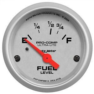 Autometer 4318 Ultra lite Electric Fuel Level Gauge