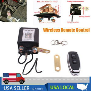 200a Battery Disconnect Cut Off Isolator Switch 12v Car With Remote Control Usa