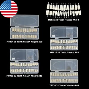 Dental Replacement 28 32 Teeth Typodont Model Nissin Kilgore Columbia Frasaco