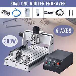 4 Axis Cnc Router Engraving Cutting Machine W Rotary Attachment For Wood More