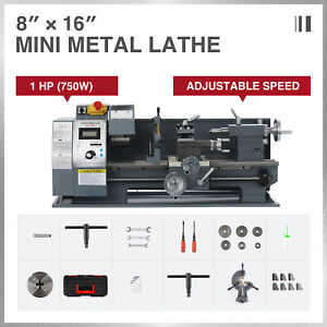 Mini Metal Lathe For Turning Cutting Drilling Threading 750w 8 x16 2250rpm