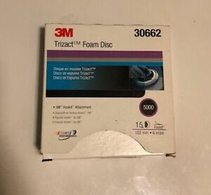3m 30662 5000 Grit Sandpaper 6 Inch Trizact Disc 15 Pieces A Box