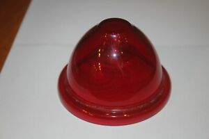 Vintage Red Glass Beehive Lens Old Rat Rod Street Rod Classic Car Tail Light