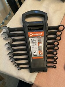 Crescent X10 Wrench Set 9 Pc 12 Point Metric Combination New