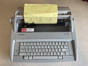 Brother Gx 6750 Daisy Wheel Electric Correctronic Typewriter Tested