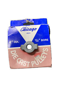 Chicago Die Cast Single V Groove Pulley A Belt 4 Od X 1 2 Bore 40050 400a5