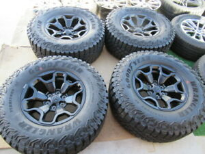 4 2021 Dodge Ram 1500 Trx Oem Factory 18 Wheels Rims Black 325 65 18 Tires