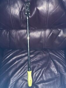 Snap On Fhllfd80 Long Swivel Head Ratchet 3 8 Drive Yellow Used
