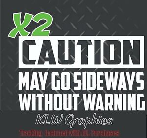 Caution Decal Stickers Diesel Truck 66 73 Turbo Funny Jdm Boost Stance Drift