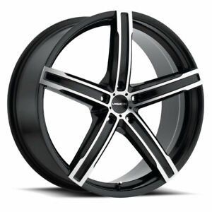5x115 4 Wheels 16 Inch Rims Vision Boost 469 16x7 38mm Gloss Black