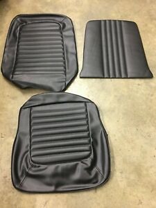 New 1968 Ford Mustang Convertible Black Standard Seat Upholstery