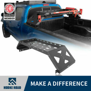 Hooke Road Bed Cargo Rack Lifting Jack Mount W fuel Pack For 05 21 Toyota Tacoma
