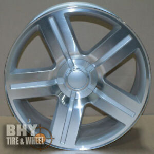 22 Wheels Chevy Texas Edition Style Rims Silver 6lug Fits Tahoe Silverado 1500