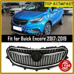 Fits For 2017 2018 2019 Buick Encore Front Upper Grille Grill Chrome Black Look
