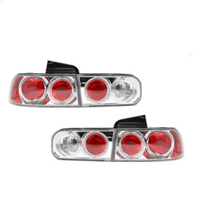 Fits 92 96 Honda Prelude Coupe 2 Door Rear Tail Lights Pair Chrome