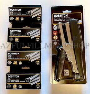 Bostitch B8hdp Xtreme Heavy Duty Plier Stapler With 4 Boxes Of 3 8 Staples