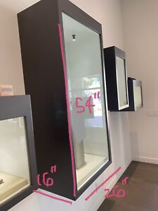 Retail Wall Mount Glass Display Case