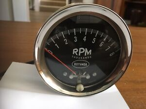 Rotunda 8k Rpm Tachometer Ford Mercury original 1960s Working