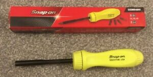 New Snap On Yellow Ratcheting Screwdriver Ssdmr4bbca Hi Viz Yellow New In Box